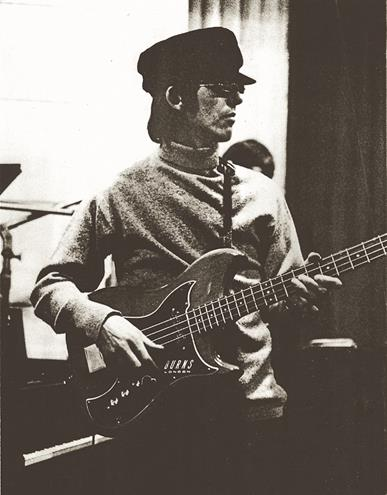 "George Harrison on bass for ""Rain"""
